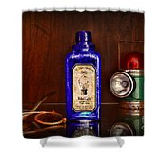 Steampunk Bottled Light Shower Curtain
