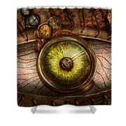 Steampunk - Creepy - Eye On Technology  Shower Curtain