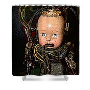 Steampunk - Cyborg Shower Curtain