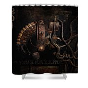 Steampunk - Electrical - Rotary Switch Shower Curtain by Mike Savad