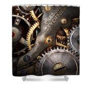 Steampunk - Gears - Horology Shower Curtain