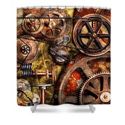 Steampunk - Gears - Inner Workings Shower Curtain