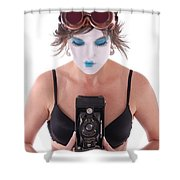 Steampunk Geisha Photographer II Shower Curtain
