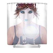 Steampunk Geisha Photographer Shower Curtain