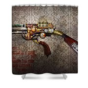 Steampunk - Gun - The Sidearm Shower Curtain