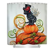 Steampunk Kitten Shower Curtain
