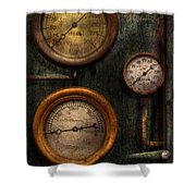 Steampunk - Plumbing - Gauging Success Shower Curtain