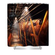 Steampunk - Plumbing - The Hallway Shower Curtain