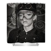 Steampunk Princess Shower Curtain