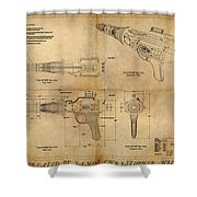 Steampunk Raygun Shower Curtain