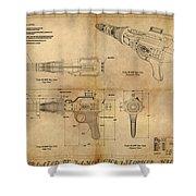 Steampunk Raygun Shower Curtain