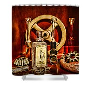 Steampunk - Spare Gears - Mechanical Shower Curtain