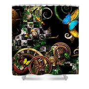 Steampunk - Surreal - Mind Games Shower Curtain