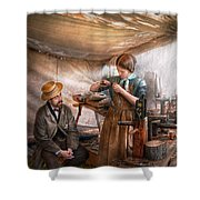 Steampunk - The Apprentice Shower Curtain