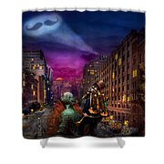 Steampunk - The Great Mustachio Shower Curtain by Mike Savad