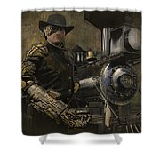 Steampunk - The Man 1 Shower Curtain