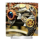 Steampunk - The Mask Shower Curtain
