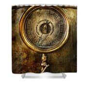 Steampunk - The Pressure Gauge Shower Curtain