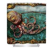 Steampunk - The Tale Of The Kraken Shower Curtain