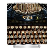 Steampunk - Typewriter -the Royal Shower Curtain by Paul Ward