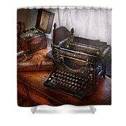 Steampunk - Typewriter - The Secret Messenger  Shower Curtain