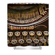 Steampunk - Typewriter - Underwood Shower Curtain