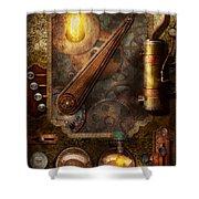 Steampunk - Victorian Fuse Box Shower Curtain