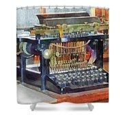 Steampunk - Vintage Typewriter Shower Curtain by Susan Savad