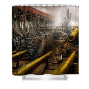 Steampunk - War - We Are Ready Shower Curtain