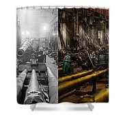 Steampunk - War - We Are Ready - Side By Side Shower Curtain