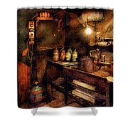 Steampunk - Where Experiments Are Done Shower Curtain