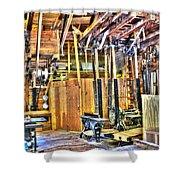 Steampunk Woodshop 4 Shower Curtain