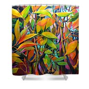 Steams And Leaves # 82 Shower Curtain