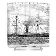 Steamship, 1853 Shower Curtain