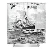 Steamship Menu, 1901 Shower Curtain