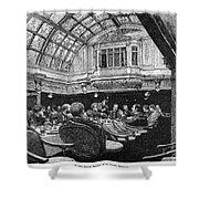 Steamship: Saloon, 1890 Shower Curtain