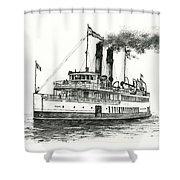 Steamship Tacoma Shower Curtain