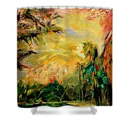 Steamy Cove Shower Curtain