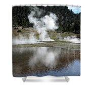 Steamy Reflections Shower Curtain