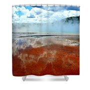 Steamy Springs Shower Curtain