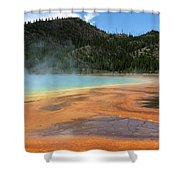 Steamy Yellowstone Shower Curtain