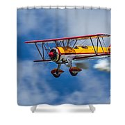Stearman Biplane Shower Curtain