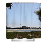 Stearns Wharf Santa Barbara Shower Curtain