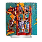 Steel Abstraction Shower Curtain
