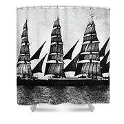 Steel Barque, 1921 Shower Curtain