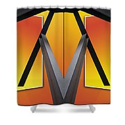 Steel Beams 02 Mirror Image Shower Curtain