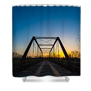Steel Bridge Shower Curtain