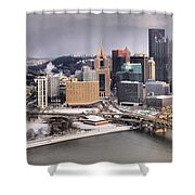 Steel City Storm Clouds Shower Curtain