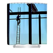 Steel Construction Shower Curtain