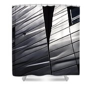 Steel Currents Shower Curtain